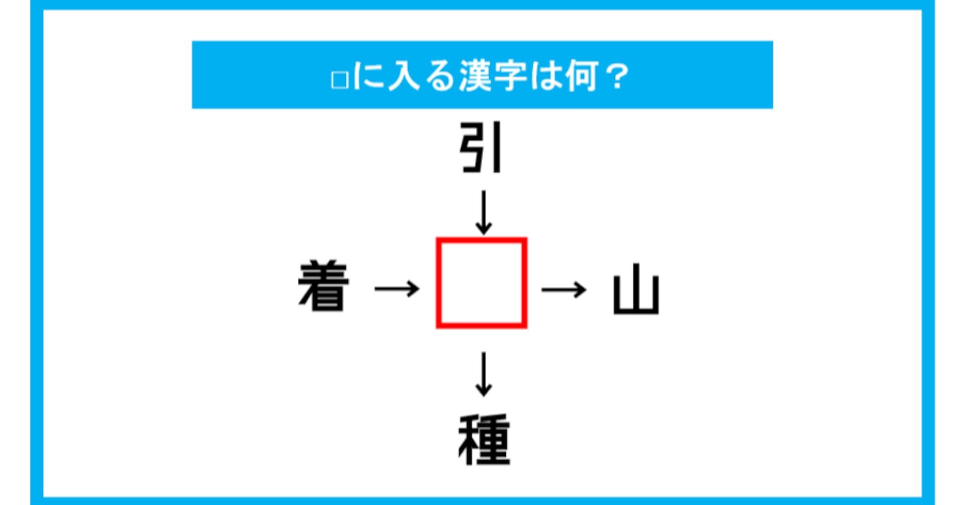 【漢字穴埋めクイズ】□に入る漢字は何?(第124問)