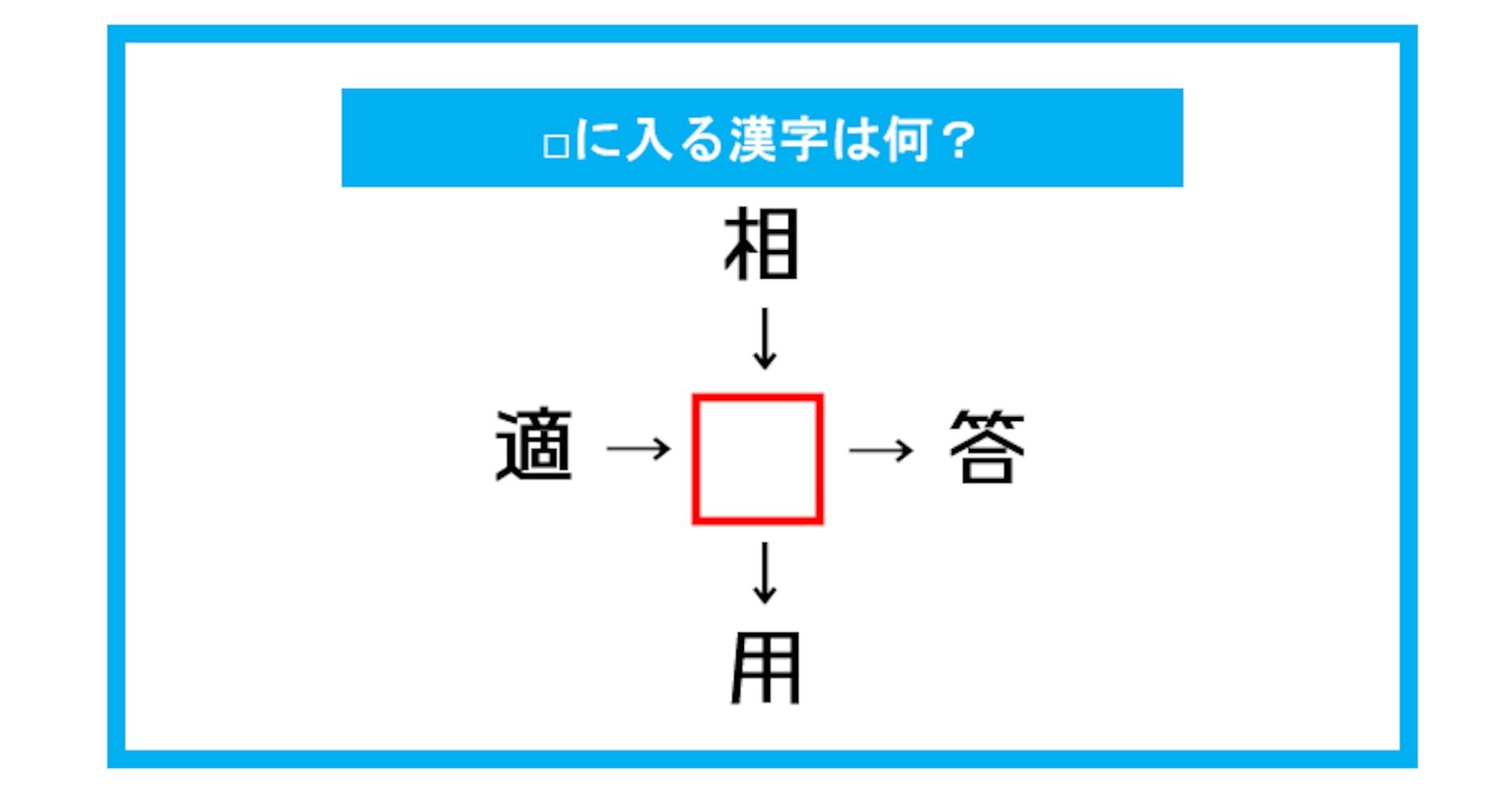 【漢字穴埋めクイズ】□に入る漢字は何?(第270問)