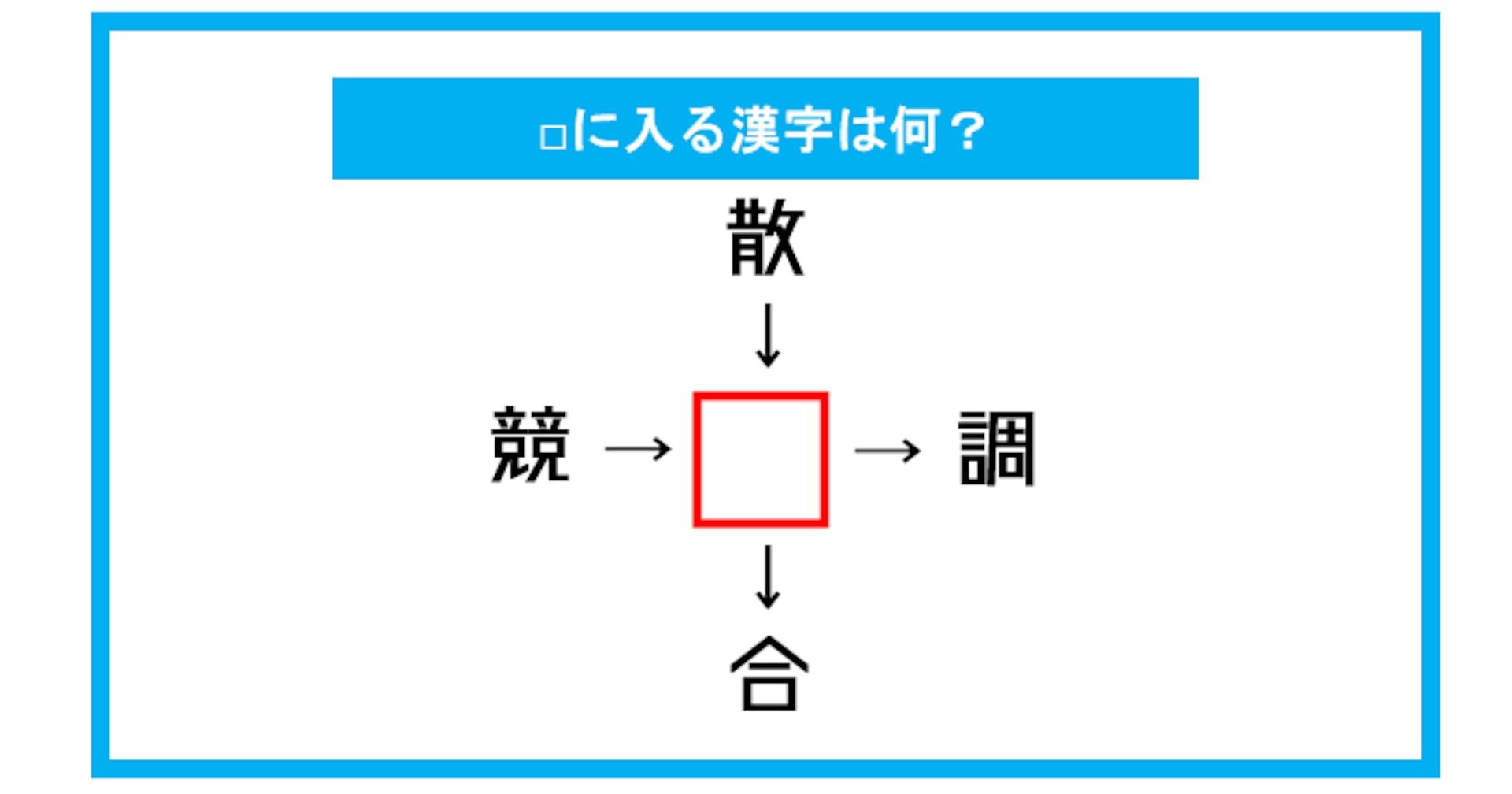 【漢字穴埋めクイズ】□に入る漢字は何?(第313問)