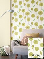 大きな柄物の壁紙は壁の一部分に使う