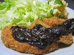 ヒレカツの甘味噌ダレ添え(味噌カツ)