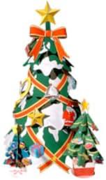 無料!クリスマスツリーのペーパークラフト