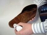 起毛系レザーの革靴をケアする