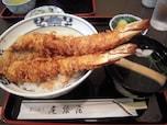 浅草はお蕎麦屋さんの天丼もおいしい。お勧めは「尾張屋」さん