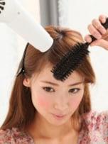 前髪ブロー・セットの基本 自然におろした前髪編