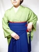 女袴を着付けるときは、裾は短め+文庫結びの羽根を狭くして、袴を履く!