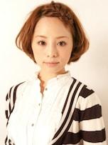 キュートな編みこみショートヘアアレンジ