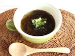 ホットも冷製もおいしい!簡単もずくスープ