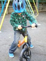 ペダル無し自転車に乗り慣れていると補助輪外しがはやい?