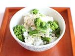 菜の花とじゃこと刻み生姜の春ご飯