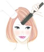 クセの出やすい前髪の乾かし方