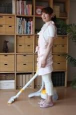 お掃除タイムに腸腰筋を鍛えるエクササイズ