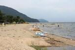 奥琵琶湖の穴場、知内浜オートキャンプ場(滋賀県)