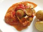 フライパン一つで手軽に作れる アジのトマト煮