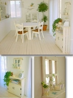 白くてロマンチックな家