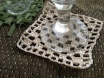 レース糸で編む四角いコースターの作り方