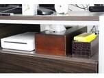 ティッシュはテレビ台と同系色のティッシュボックスを使う