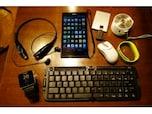スマホ+キーボード、マウス、USBメモリ で、PC並に活用