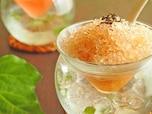 メンソール香が爽やかな「紅玉紅茶」のかき氷