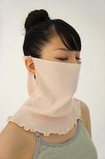 口からの冷気対策に「マスク」