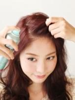 かきあげ前髪×ミックス巻き