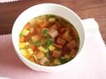 レンジでチン!5分でできる!スパムの簡単あったかスープ