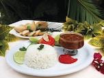 【ドミニカ共和国】炭水化物多めの定食、バンデラ