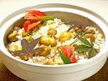 もち米を混ぜて! 土鍋で炊く栗ご飯!