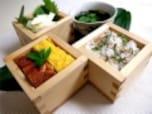 母の日の三色箱寿司