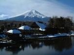 山梨県側から参戦!古民家と富士山の雄大な眺め