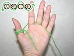 ゆび編みで作る簡単アクリルたわしの編み方