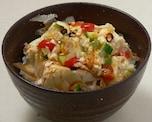 豆腐+唐辛子で簡単!極旨!豆腐どんぶり
