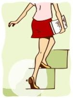 階段の上り方を変えるだけで、美脚まっしぐら!