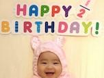誕生日の半分を過ぎた赤ちゃんの成長記念