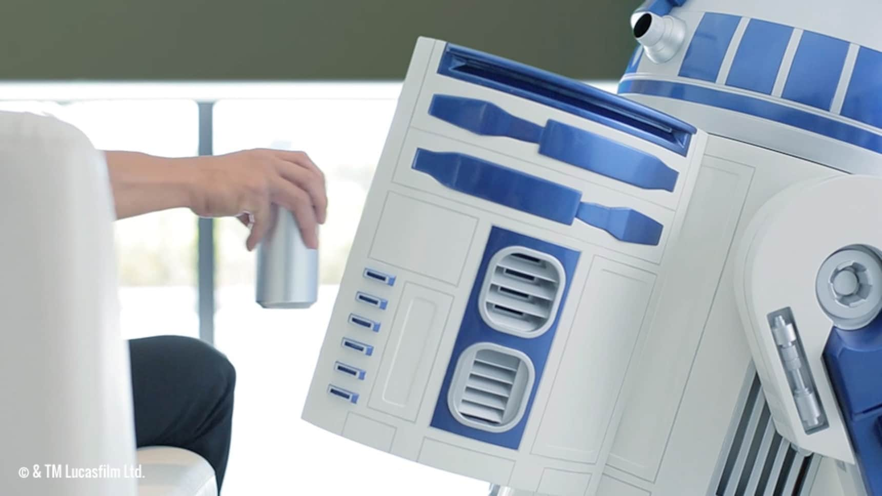 Life-Size R2-D2 is a Moving Refrigerator!