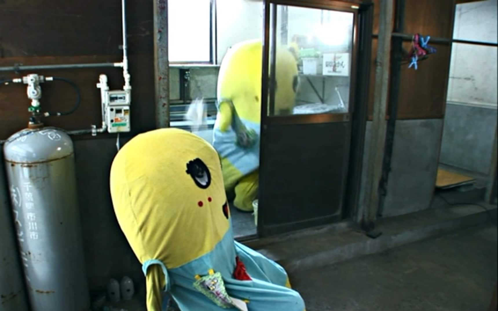 Funassyi Shares the Joy of Toilet Cleaning