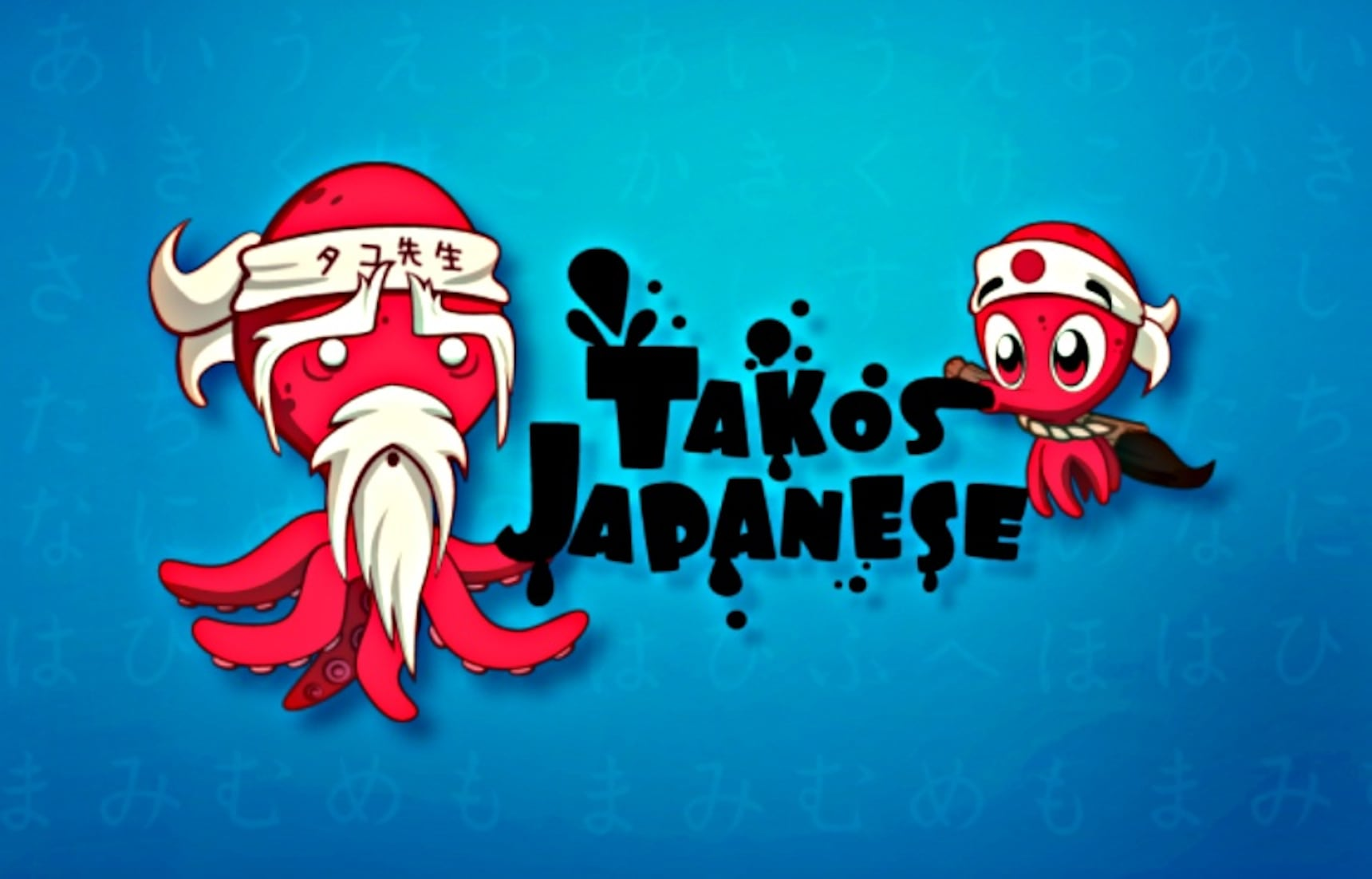 Learn Japanese with a Five-Armed Octoped