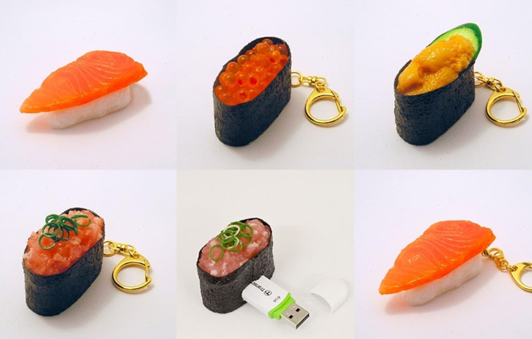 6 Cute Sushi Knickknacks
