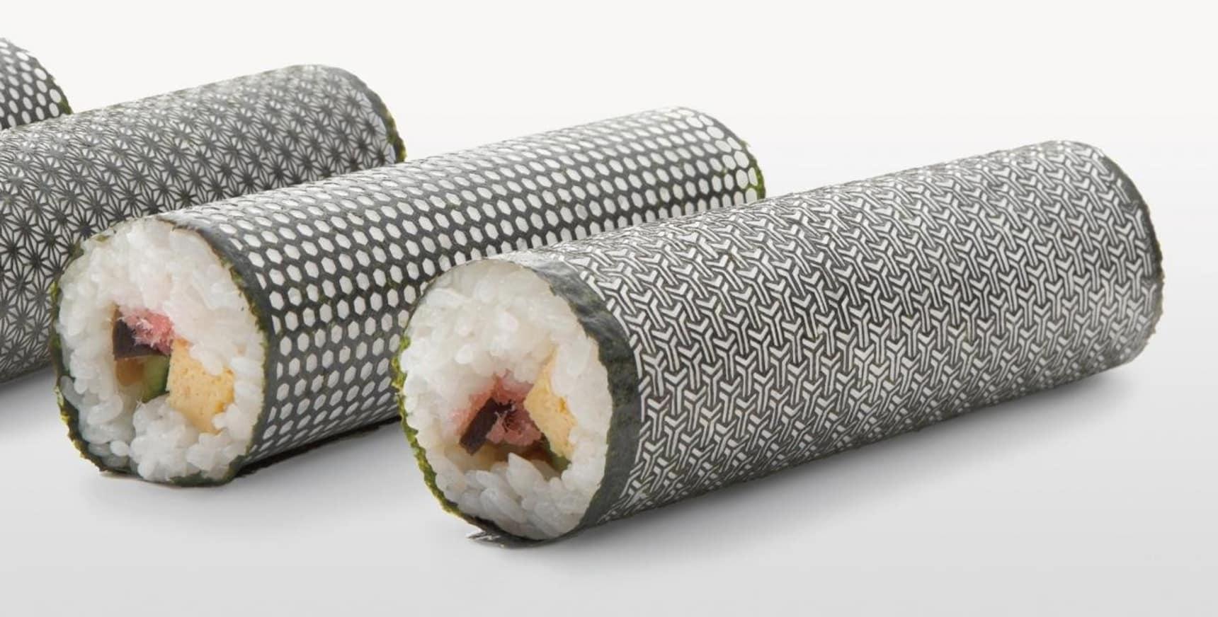 Laser-Cut Seaweed Makes Beautiful Sushi