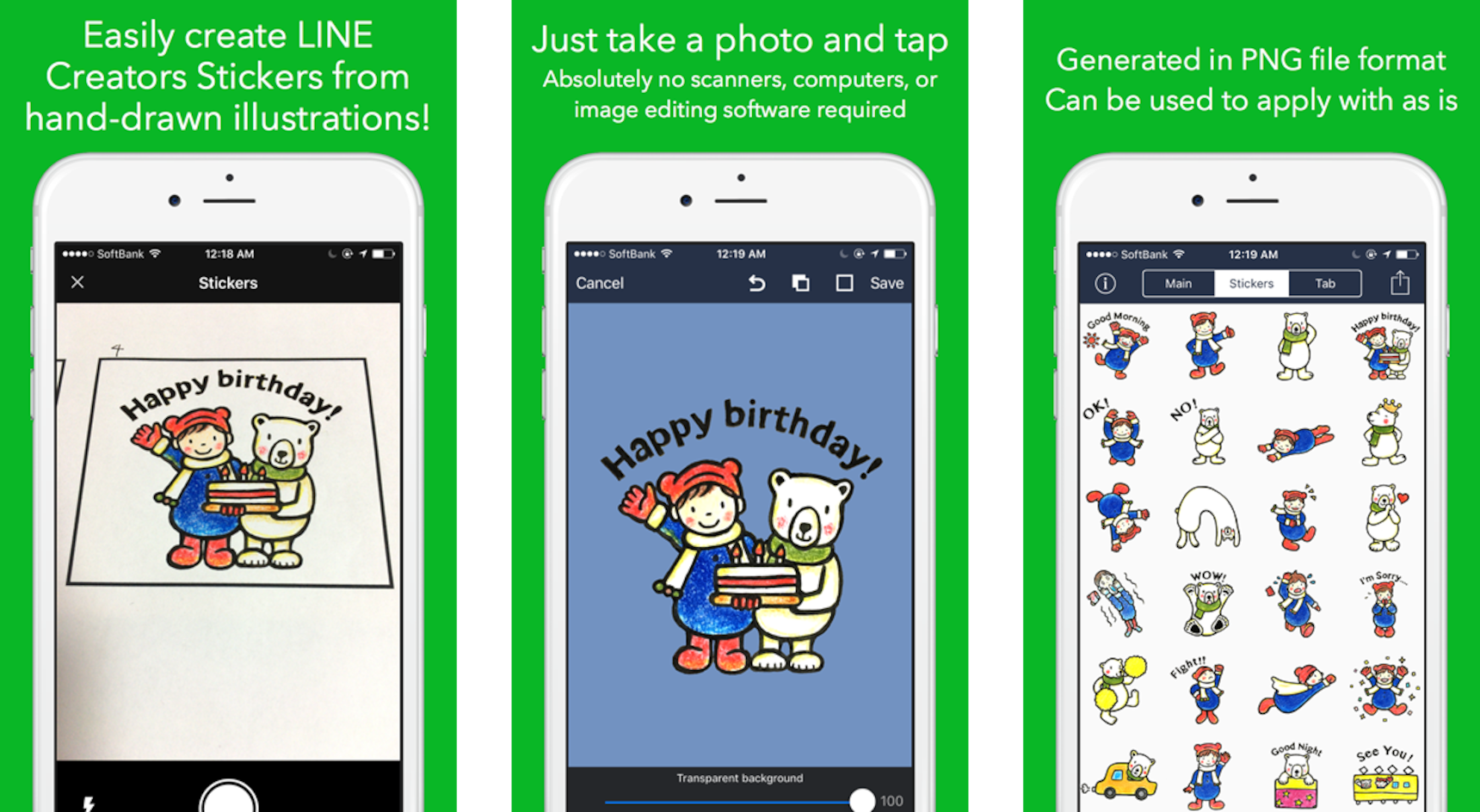Line Stickers from Hand-Drawn Illustrations