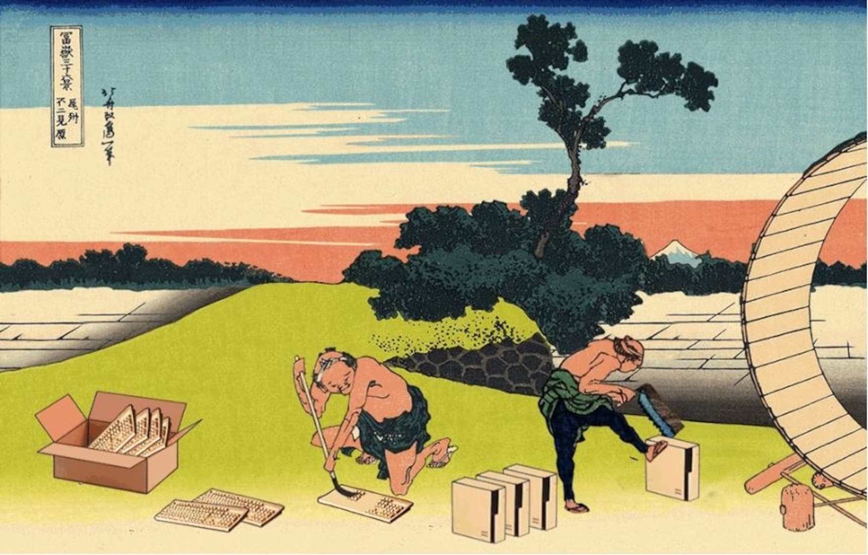 Ukiyo-e Paintings Get a Modern-Day Makeover