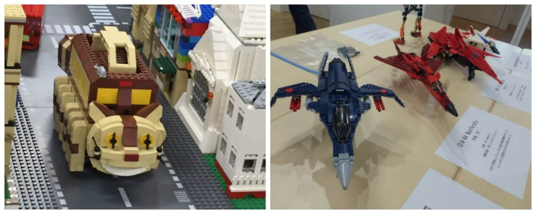 Anime Characters & Aircraft Get Lego-ized