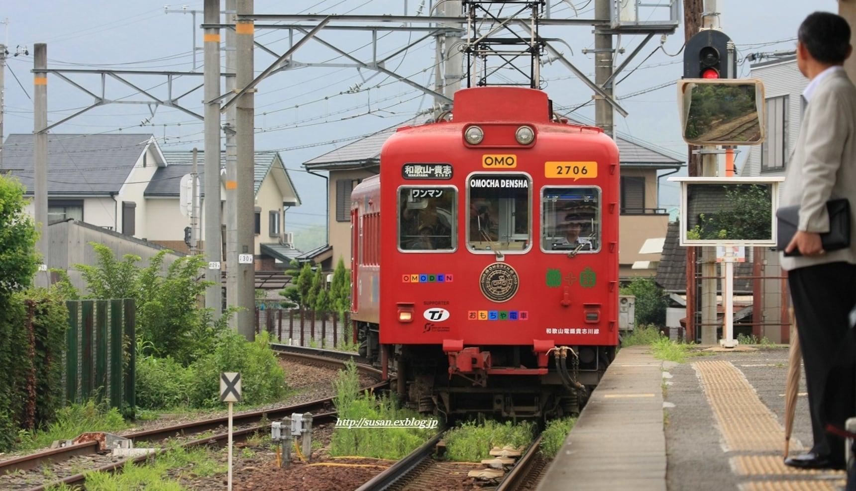 貴志川線大改造之一:草莓電車和玩具電車