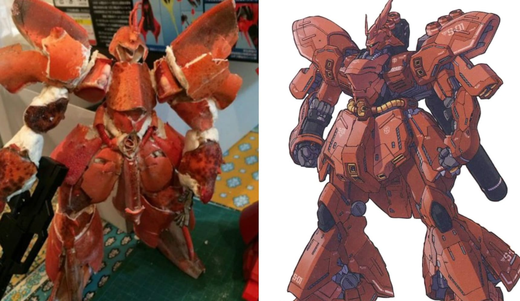 This Lobster Gundam Rocks!
