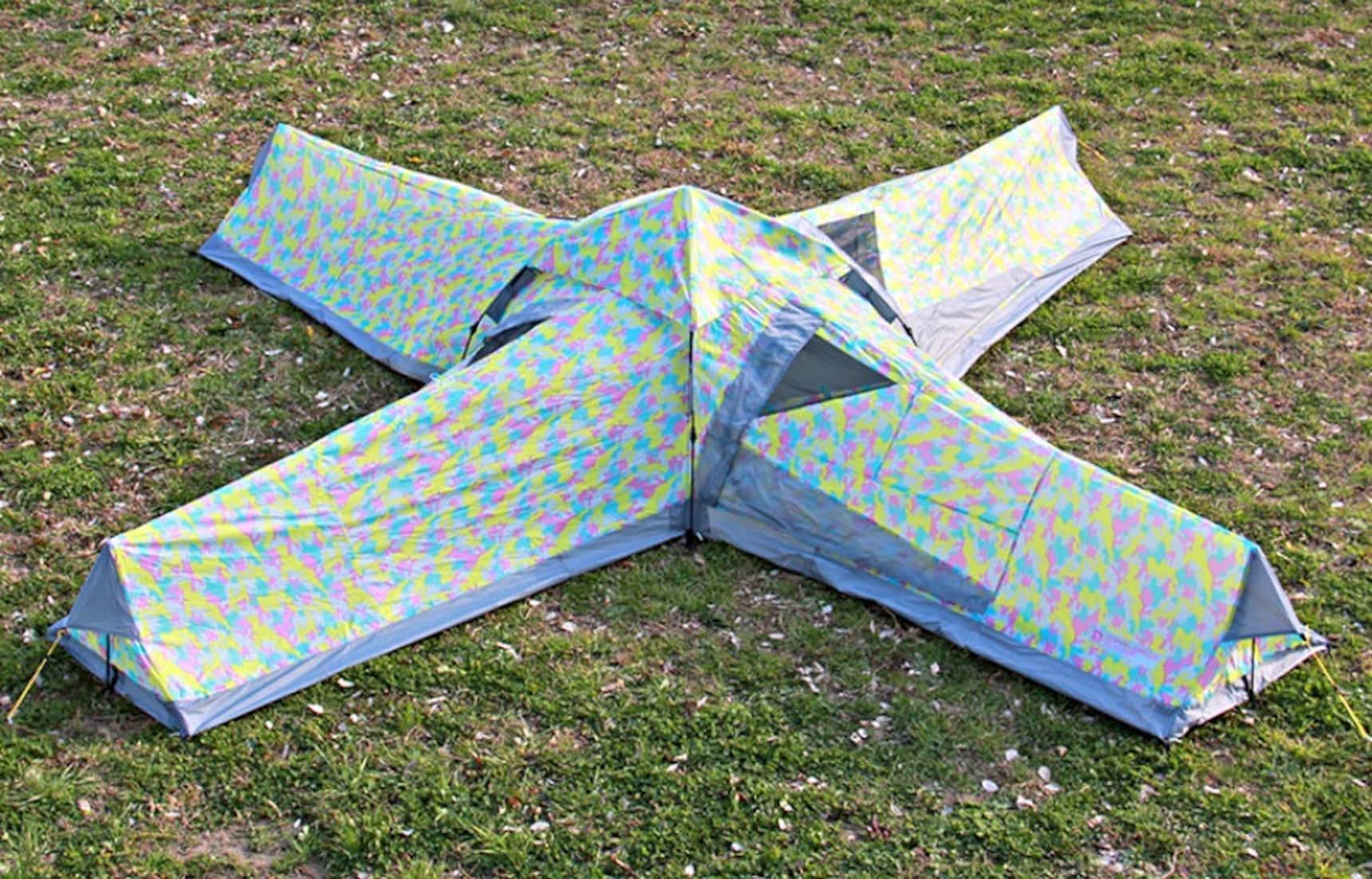 帳篷還可以這樣搭?組團去野營咯!