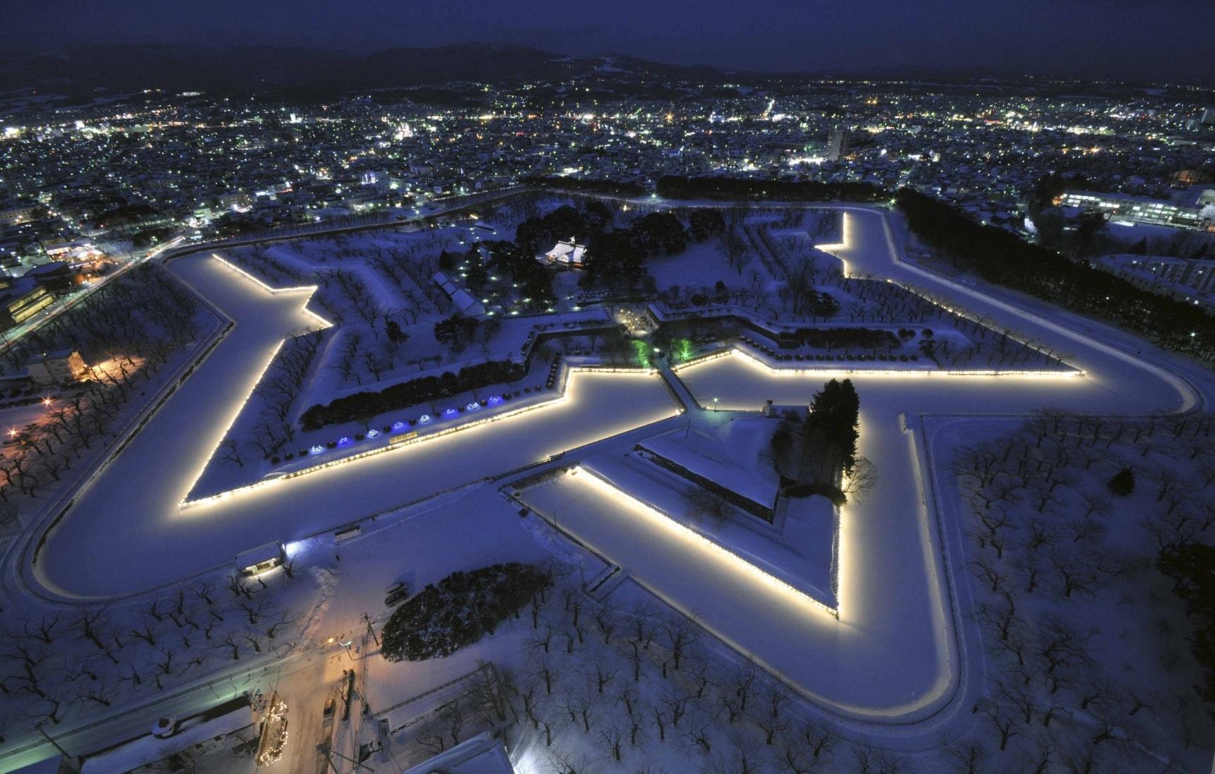五星城郭之函馆五稜郭- 绝对的五星级旅游体验