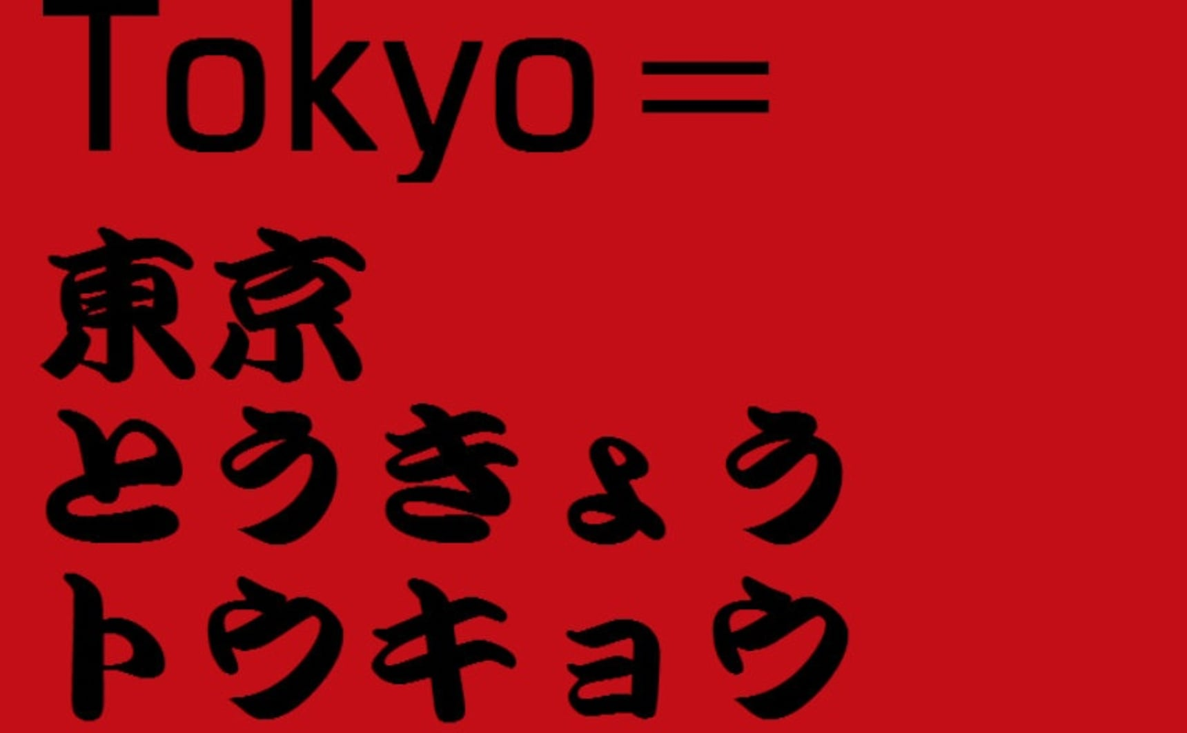 Intro to the Japanese Writing System