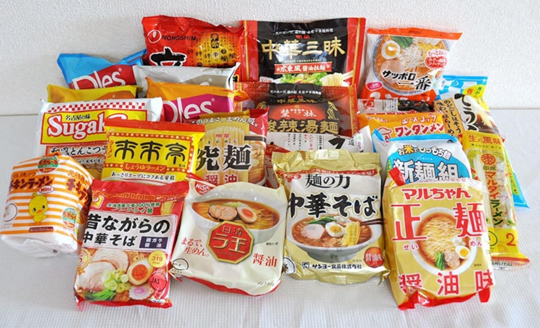 7 อันดับบะหมี่กึ่งสำเร็จรูปแบบซองของญี่ปุ่น