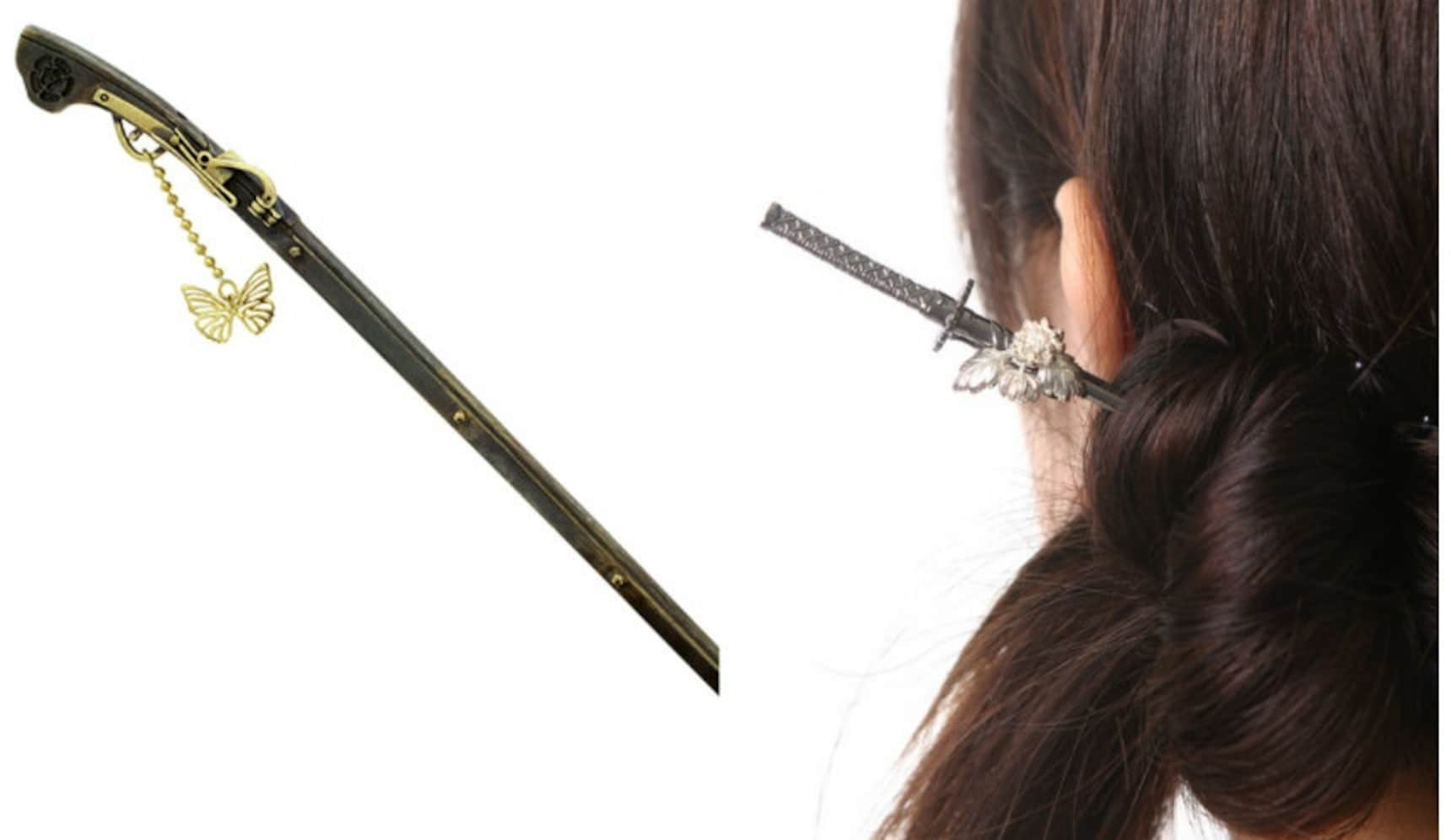 Pin Your Hair Up with Mini Japanese Weapons