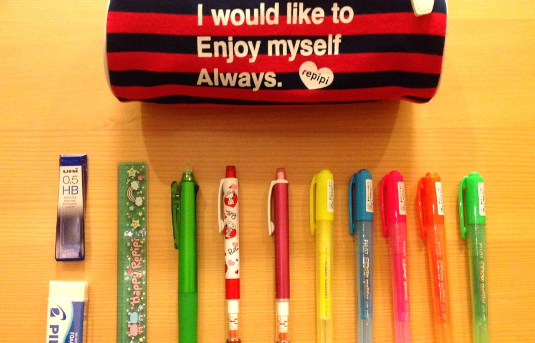 แอบส่อง 10 เครื่องเขียนในกล่องดินสอเด็กญี่ปุ่น